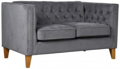 Birlea Florence Grey Velvet 2 Seater Sofa