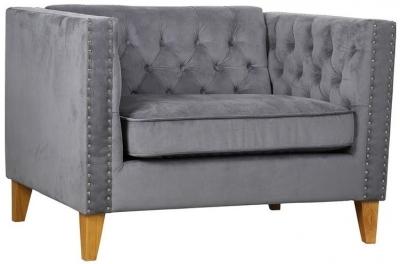 Birlea Florence Grey Velvet Snuggle Armchair