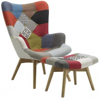 Birlea Sloane Armchair and Stool