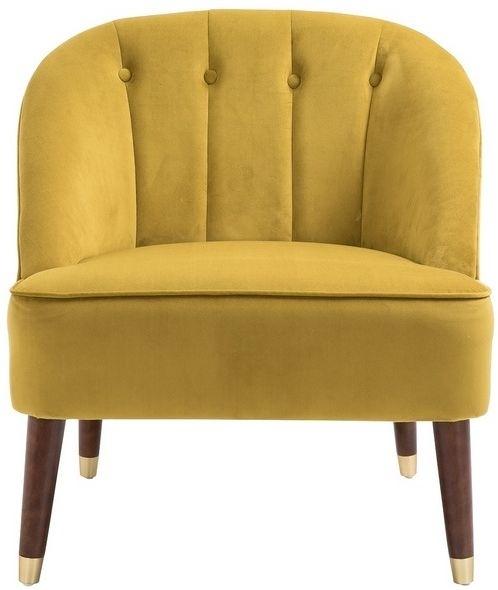 Birlea Alexa Mustard Fabric Tub Chair