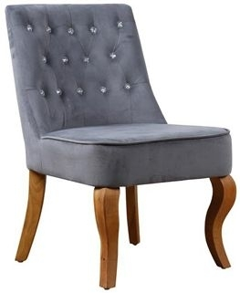 Birlea Darcey Grey Velvet Chair