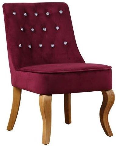 Birlea Darcey Plum Velvet Chair
