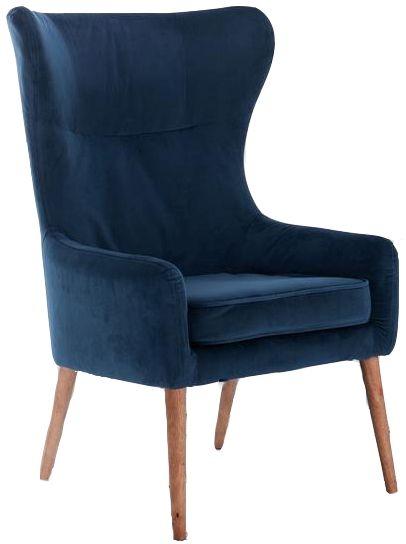Birlea Midnight Blue Bow Armchair