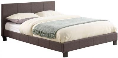 Birlea Berlin Grey Fabric Bed