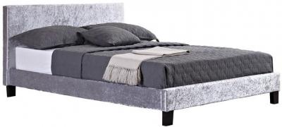 Birlea Berlin Steel Crushed Velvet Bed