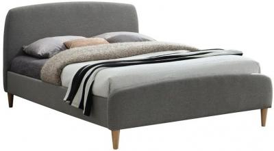 Birlea Quebec Grey Fabric Bed