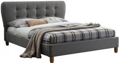 Birlea Stockholm Grey Fabric Bed