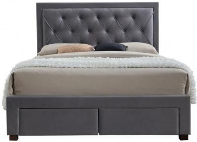 Birlea Woodbury Grey Fabric Bed