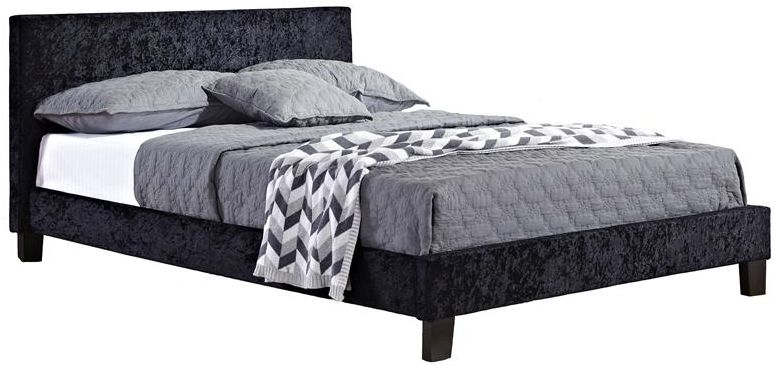 Birlea Berlin Black Crushed Velvet Bed