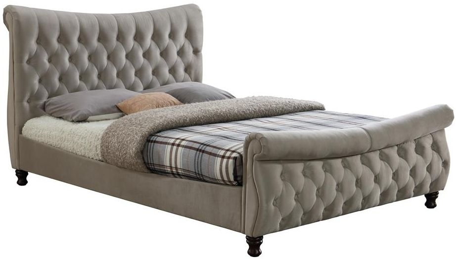 Birlea Copenhagen Warm Stone Fabric Bed