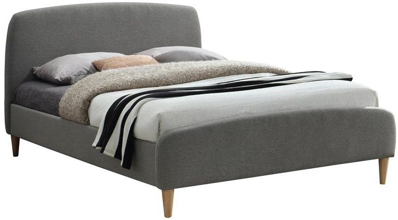 Birlea Quebec Grey Fabric Bed
