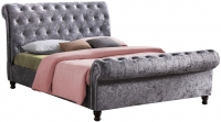 Birlea Castello Steel Crushed Velvet Bed