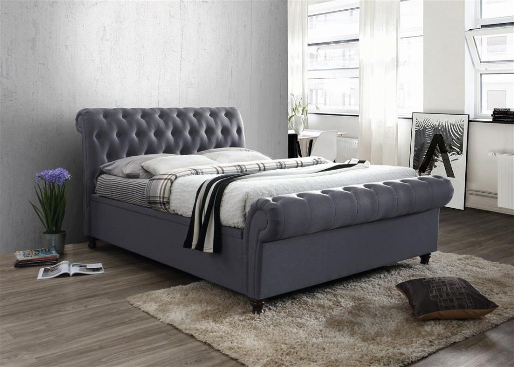 Birlea Castello Charcoal Side Ottoman Bed