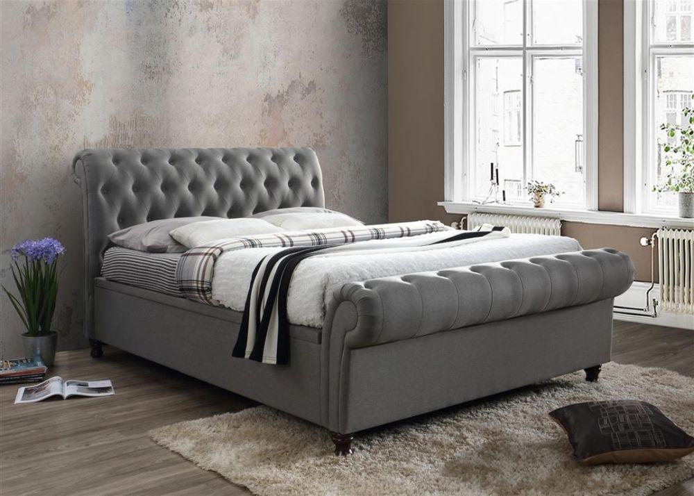 Birlea Castello Grey Fabric Side Ottoman Bed