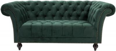 Birlea Chester Green Fabric 2 Seater Sofa