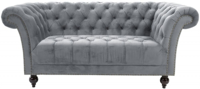 Birlea Chester Grey Fabric 2 Seater Sofa
