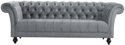 Birlea Chester Grey Fabric 3 Seater Sofa