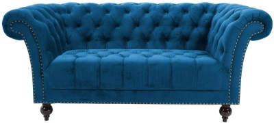 Birlea Chester Midnight Blue Fabric 2 Seater Sofa