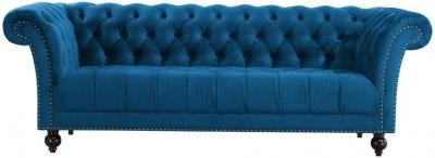 Birlea Chester Midnight Blue Fabric 3 Seater Sofa