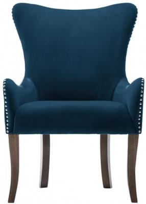 Birlea Ellis Midnight Blue Fabric Armchair