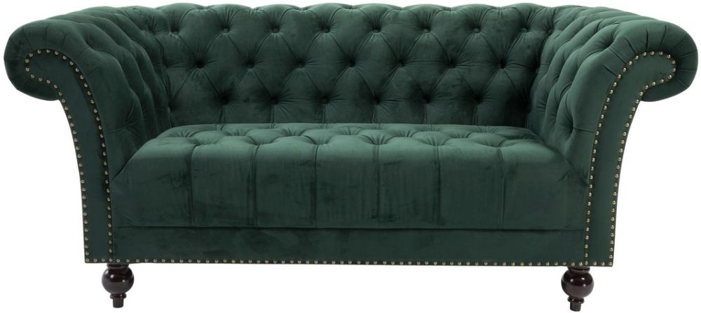 Birlea Chester Green Fabric 2 Seater Sofa