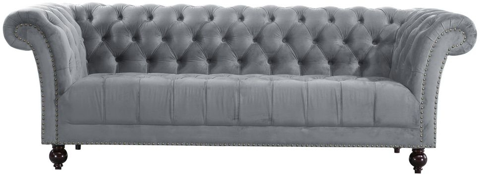 Birlea Chester Grey Fabric 3 Seater Sofa