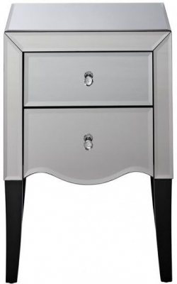 Clearance - Birlea Palermo Mirrored Bedside Cabinet - New - E-453