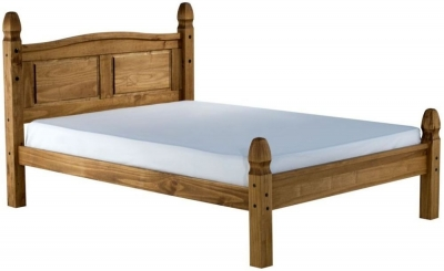 Clearance Birlea Corona Mexican Waxed Pine Bed - 5ft King Size Low Foot End