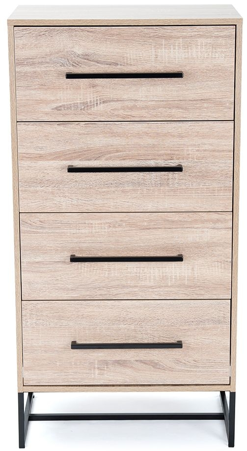 Birlea Conrad Silver Oak 4 Drawer Chest