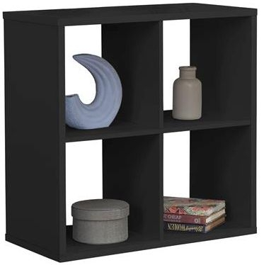 Birlea Black 4 Cube Shelving Unit