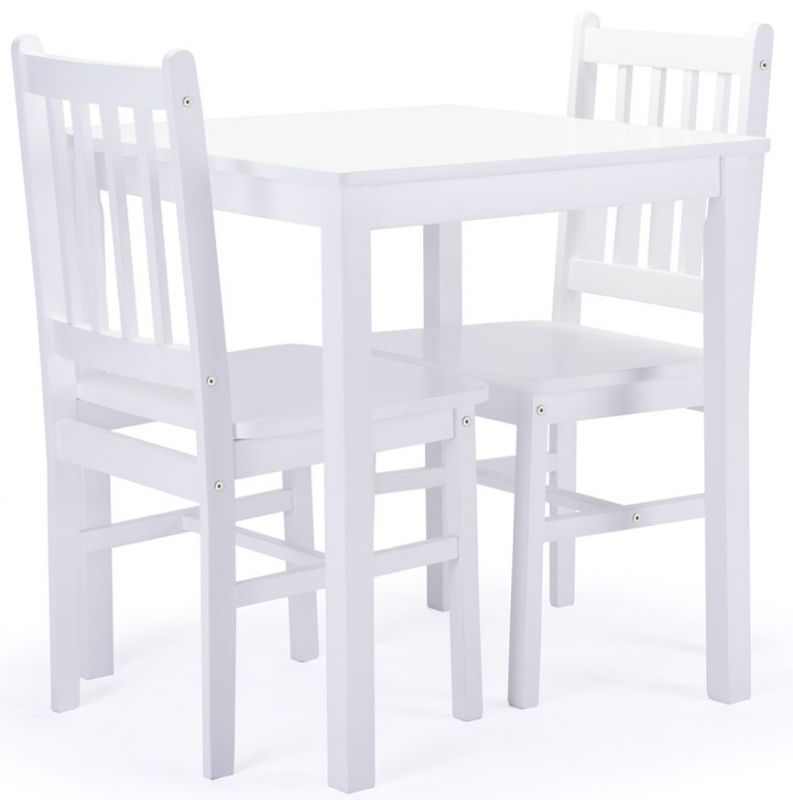 Birlea Somerset White Dining Table and 2 Chairs