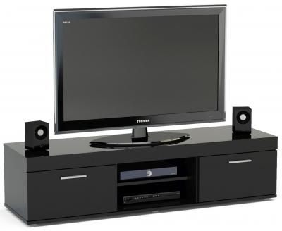 Birlea Edgeware Black Medium TV Unit