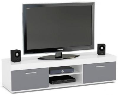 Birlea Edgeware Medium TV Unit - White and Grey