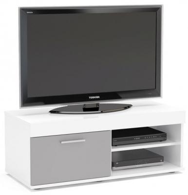 Birlea Edgeware Small TV Unit - White and Grey