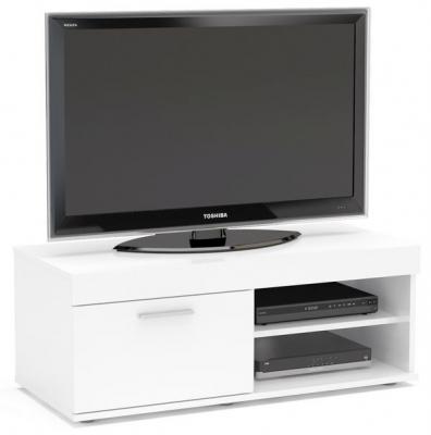 Birlea Edgeware White Small TV Unit