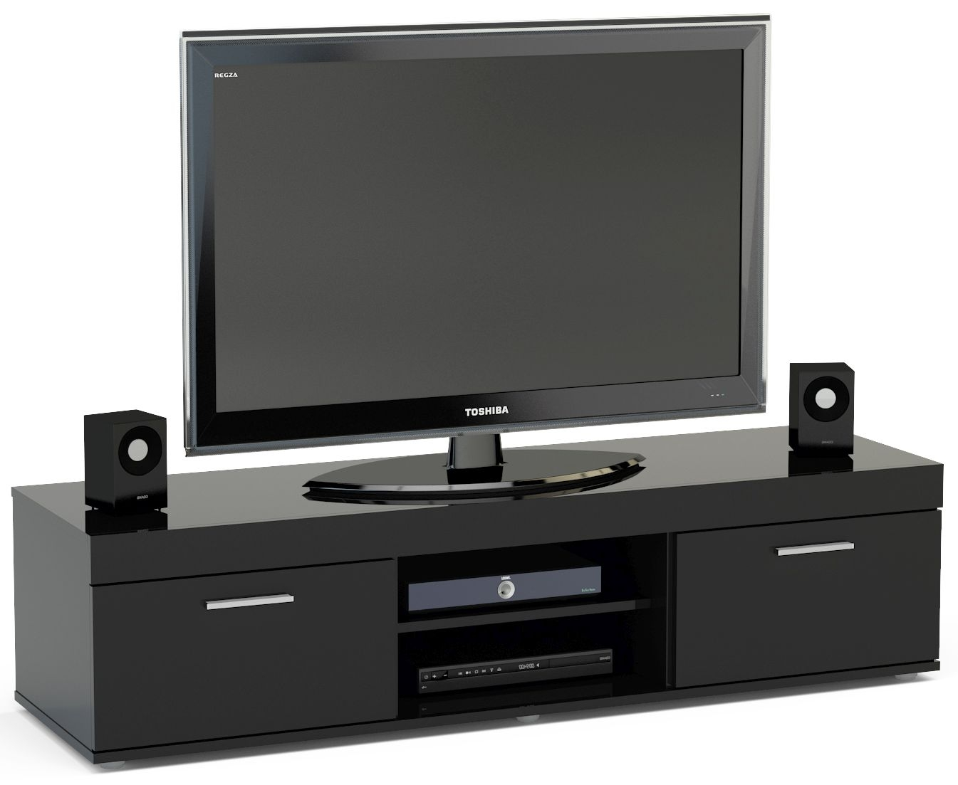 Birlea Edgeware Black Medium TV Unit
