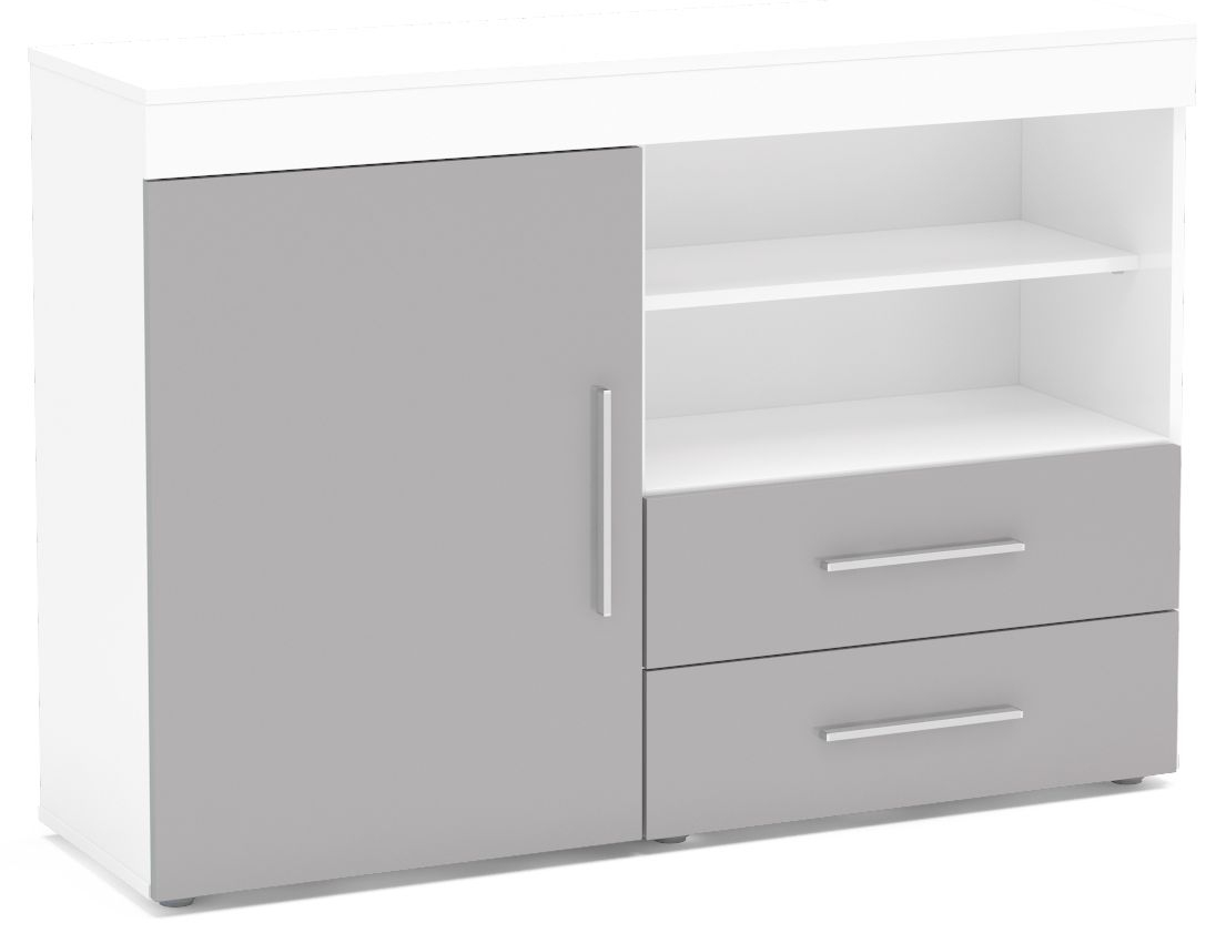 Birlea Edgeware Sideboard - White and Grey