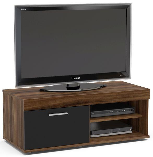 Birlea Edgeware Small TV Unit - Walnut and Black