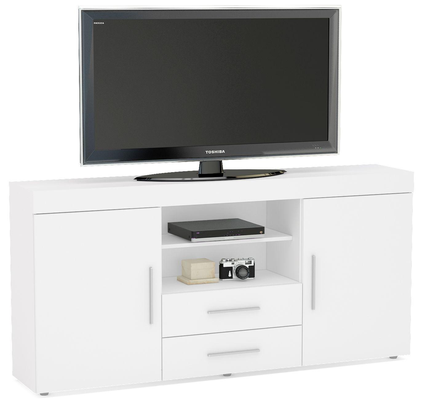 Birlea Edgeware White Large TV Unit