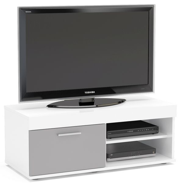 Birlea Edgeware Small TV Unit - White and Grey