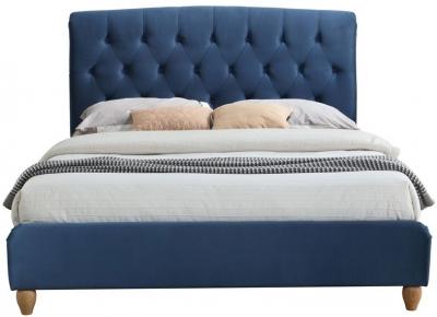 Birlea Brompton Midnight Blue Fabric Bed