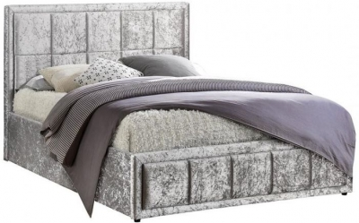 Birlea Hannover Steel Crushed Velvet Ottoman Bed
