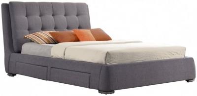 Birlea Mayfair Grey Fabric Bed - 4 Drawer