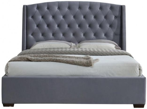 Birlea Balmoral Grey Velvet Fabric Bed