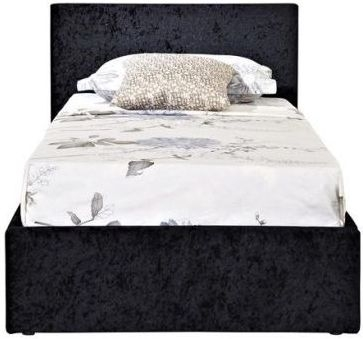 Birlea Berlin Ottoman Black Crushed Velvet Fabric Bed