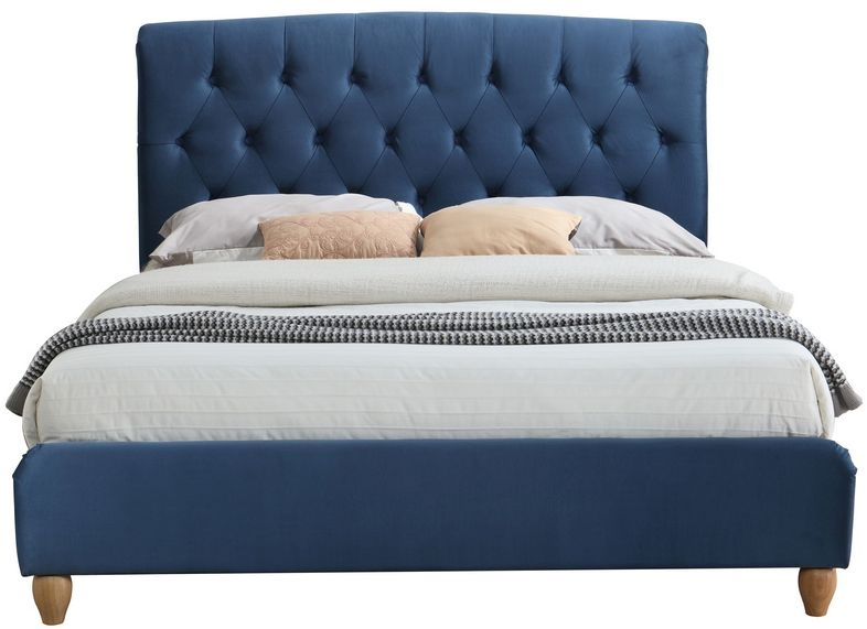 Birlea Brompton Midnight Blue Fabric Bed