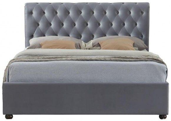 Birlea Marlow Grey Velvet Fabric Bed