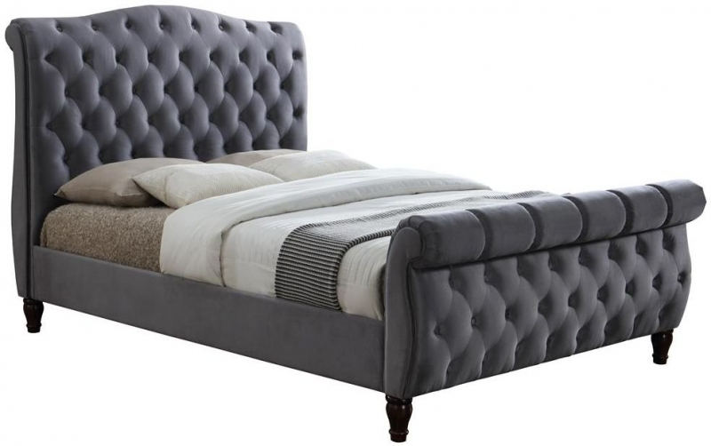 Birlea Colorado Grey Velvet Bed