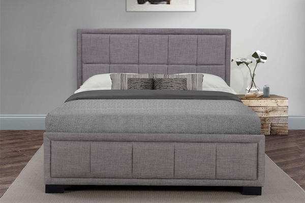 Birlea Hannover Grey Fabric Bed