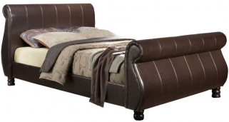 Birlea Marseille Brown Faux Leather Bed